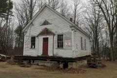 Beech-Ridge-schoolhouse-moved-over-the-foundation-2019-11-18-IMG_1255-KO