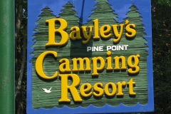 Bayley's Resort sign