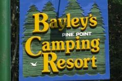 Bayley's Resort sign