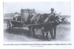 Higgins Beach - Bull & Cart - 1890 - 95.27.131